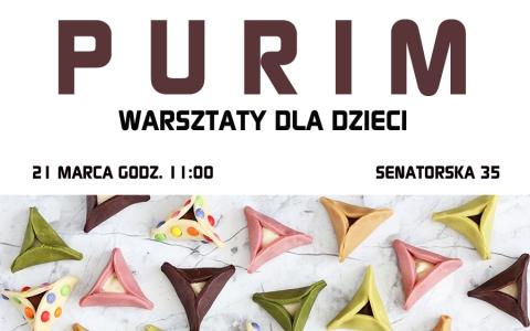 Purim - warsztaty dla dzieci