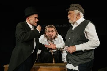 Miasteczko Kasrylewka / reż. Shmuel Atzmon-Wircer / na zdjęciu Jerzy Walczak, Henryk Rajfer i Shmuel Atzmon-Wircer