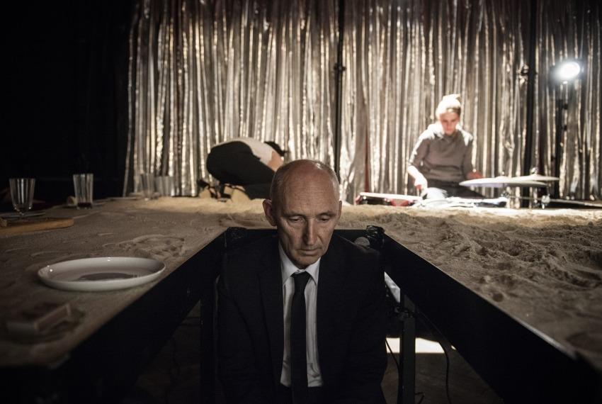 Aktorzy żydowscy / reż. Anna Smolar / fot. M.Hueckel / na pierwszym planie Ryszard Kluge