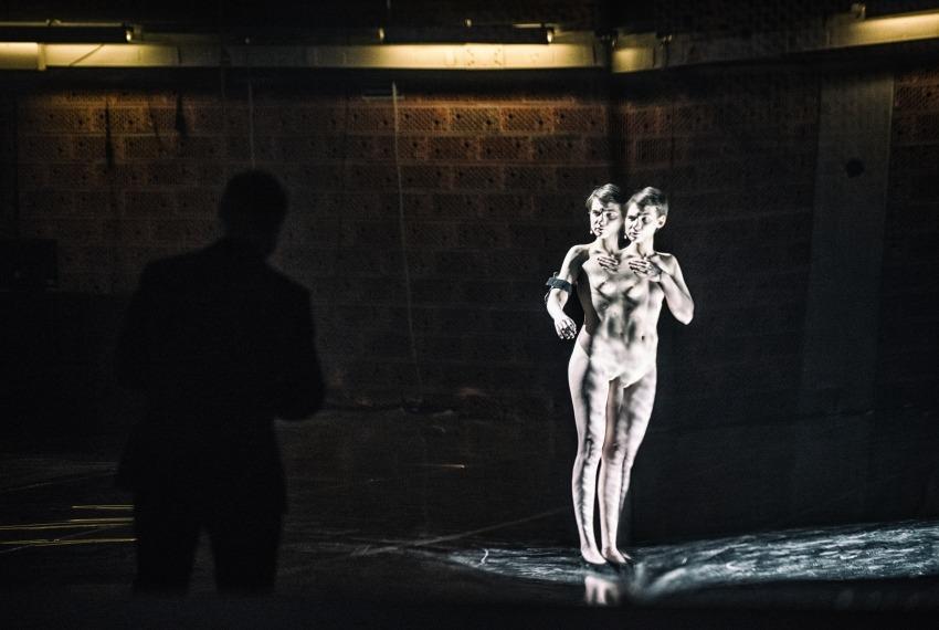 Golem / reż. Maja Kleczewska / na zdjęciu Michał Czachor i Małgorzata Gorol