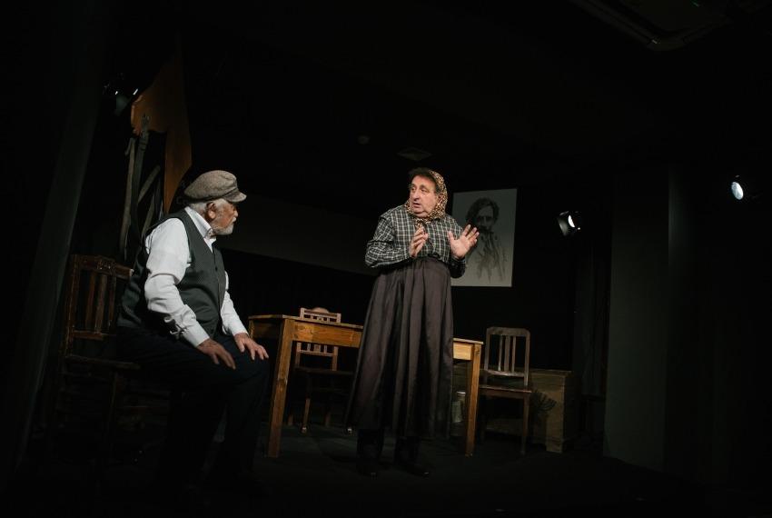 Miasteczko Kasrylewka / reż. Shmuel Atzmon-Wircer / na zdjęciu Shmuel Atzmon-Wircer i Henryk Rajfer