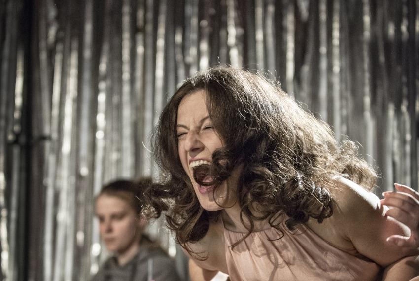 Aktorzy żydowscy / reż. Anna Smolar / fot. M.Hueckel / na pierwszym planie Małgorzata Trybalska